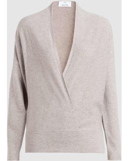 Wool And Cashmere-blend Shawl Collar Sweater