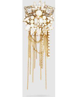 Crystal + Pearl Brooch