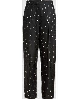 Snowbird Print Pleated Trousers