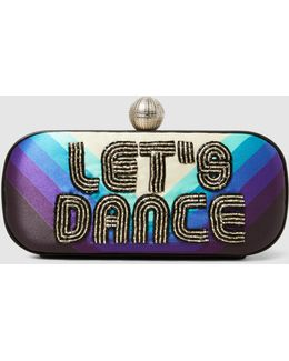 Let's Dance Embroidered Clutch