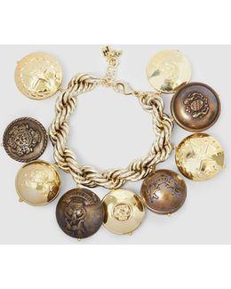 Milite Embossed-charm Bracelet