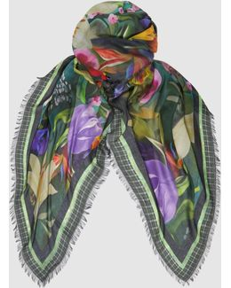 Printed Modal-cashmere Square Scarf