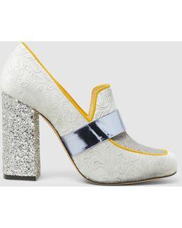 Athos Velvet And Glitter Loafer Heels