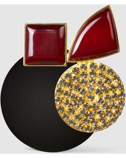 Embellished Resin Brooch