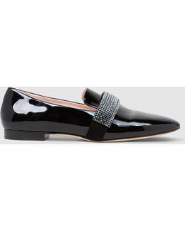 Swarovski Crystal Patent-leather Loafers