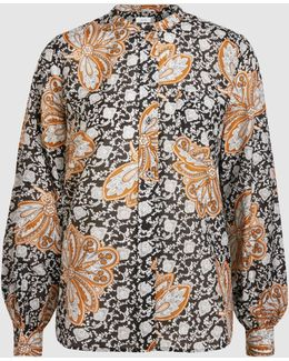 Walter Printed Cotton And Silk-blend Blouse