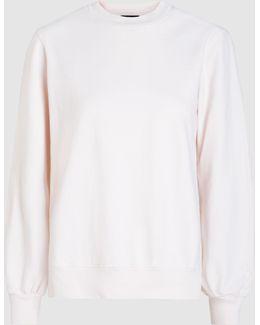 Sweatshirt With Silk Cape