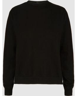 Cotton Contrast Sweatshirt