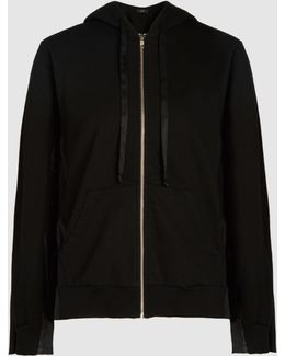 Hooded Pleated Detail Sweatshirt