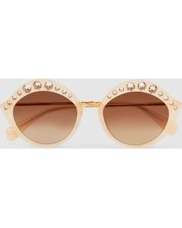 Musgrove Crystal-embellished Cat-eye Sunglasses