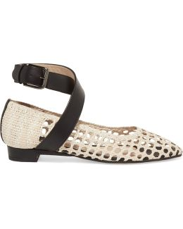 Woven Leather Ballet Flats