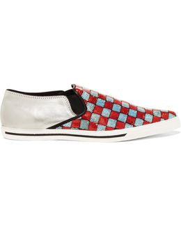 Women's Delancey Sequins Embroidered Slipon Trainers