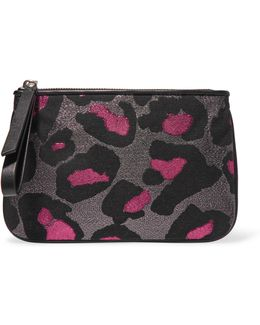 The Roxy Metallic Jacquard Pouch