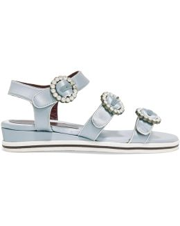 Charlotte Crystal-embellished Satin Sandals