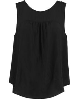 Lace-up Voile Top