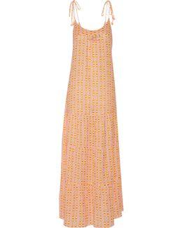 Brielle Embellished Printed Cotton-blend Gauze Maxi Dress