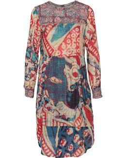 Cheyenne Printed Cotton-blend Crepe De Chine Dress