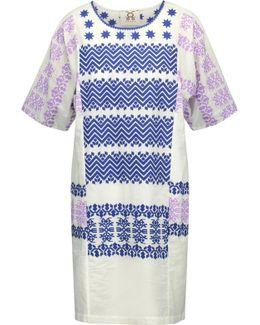 Luz Embroidered Cotton-broadcloth Mini Dress