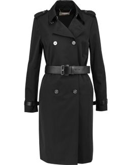 Coated Cotton-blend Trench Coat