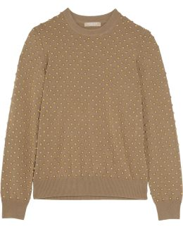 Stud-embellished Cashmere Sweater