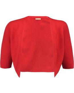 Merino Wool-knit Shrug