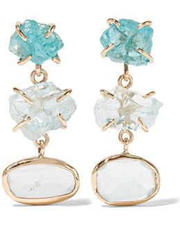 14-karat Gold, Aquamarine And Apatite Earrings