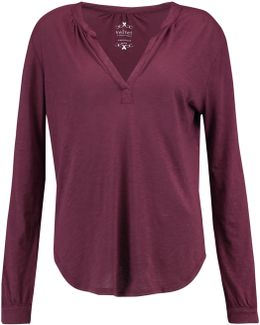 Slub Cotton And Modal-blend Jersey Top