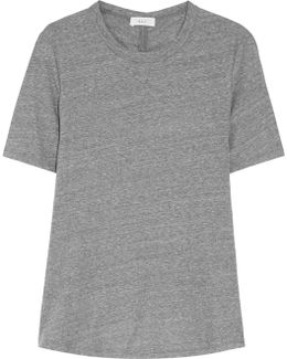 Elena Ruched Cotton-jersey T-shirt