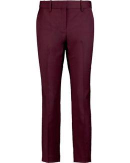 Treeca Cropped Wool-blend Straight-leg Pants