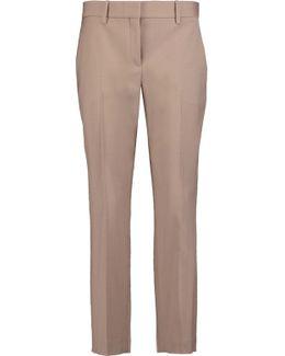 Treeca Cropped Wool-blend Slim-leg Pants