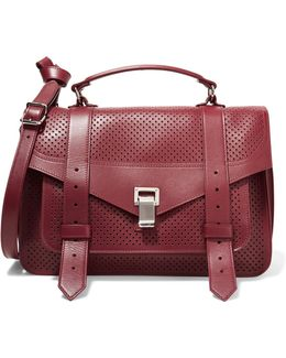 Ps1 Medium Perforated Leather Shoulder Bag