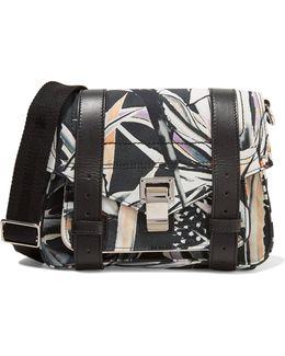 Ps1 Leather-trimmed Printed Twill Shoulder Bag