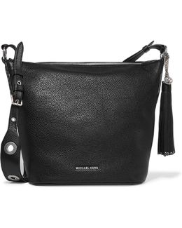 Brooklyn Tasseled Embellished Textured-leather Shoulder Bag
