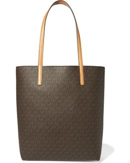 Hayley Printed Textured-leather Tote