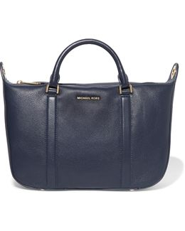 Raven Textured-leather Tote