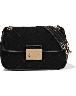 Sloan Quilted Velvet Shoulder Bag