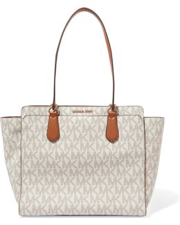 Dee Dee Printed Textured-leather Tote