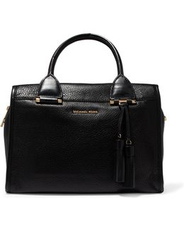 Geneva Textured-leather Tote