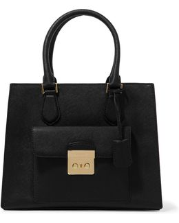 Bridgette Medium Textured-leather Tote
