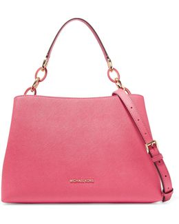 Portia Textured-leather Shoulder Bag
