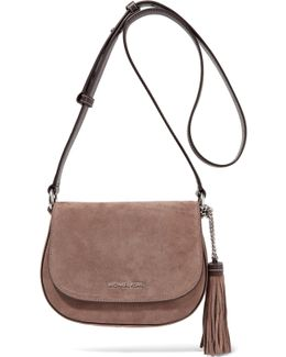 Elyse Medium Suede And Leather Shoulder Bag