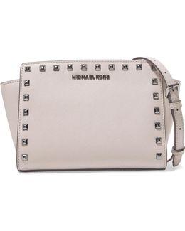 Selma Studded Textured-leather Shoulder Bag