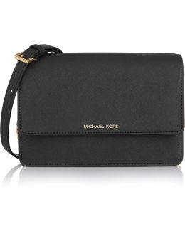 Daniela Small Textured-leather Shoulder Bag