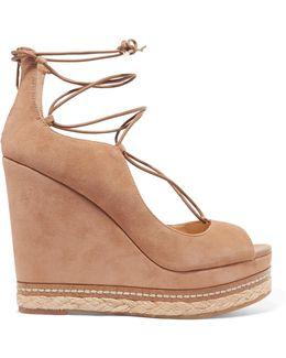 Harriet Suede Espadrille Wedge Sandals