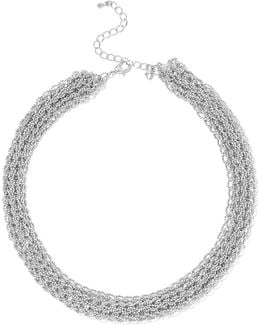 Silver-tone Beaded Necklace