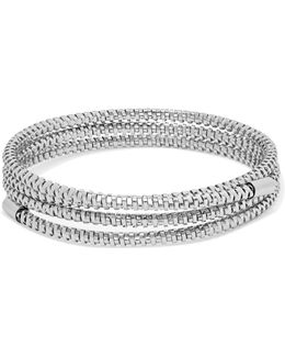 Silver-tone Wrap Bracelet