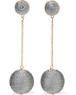 Gold-tone Cord Earrings