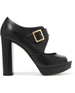 Eleni Leather Platform Sandals