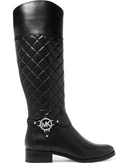 Fulton Harness Quilted Leather Knee Boots