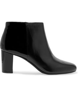Lucy Patent And Smooth Leather Ankle Boots